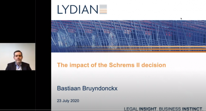 Thumbnail Lydian Webinar 'Impact of the Schrems II decision' - 23 July 2020