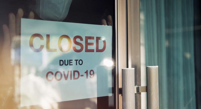 Business closed due to covid