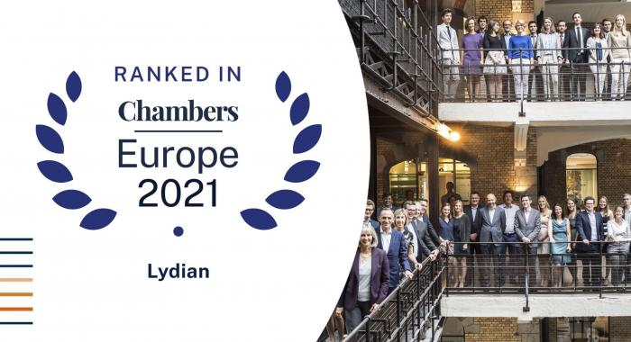 Chambers and Partners Europe 2021 Rankings